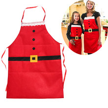 Christmas Santa Claus Apron 2017 Christmas Decorations for Home Red Cloth Adult Pinafore Noel Decoration