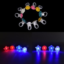 Kids Cartoon LED Flashing Light Up Glowing Finger Rings Electronic Christmas Halloween Fun Toys Gifts(China)