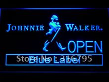 060 Johnnie Walker Whiskey OPEN Bar LED Neon Sign with On/Off Switch 20+ Colors 5 Sizes to choose(China)