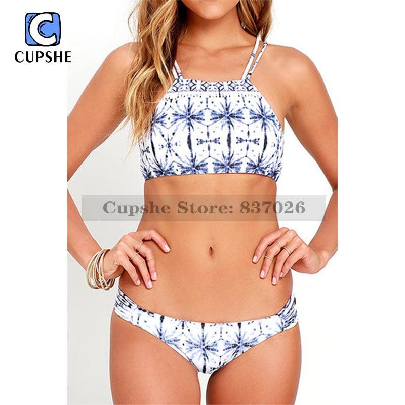Cupshe Field Day Printing Bikini Set Women Summer Sexy Swimsuit Ladies Beach Bathing Suit<br><br>Aliexpress