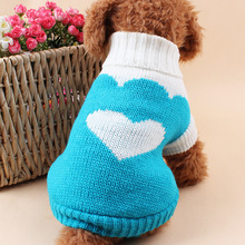 Autumn and Winter Style Pet Knit Sweater Crochet Dog Sweater for Warm Classic Lapel Strawberry Love Pet Sweater Dog Supplies(China)