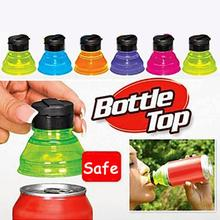 Practical Tools 6Pcs/Set Plastic Creative Soda Savers Toppers Reusable Bottle Caps Can Convert Resealable Tops Random Color(China)