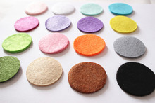 DIY 8CM Felt circle Round fabric pads accessory, fabric flower accessories for hair flower 300PCS