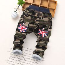 2-5 Years Winter Baby Boy Pants Children Girl Casual Thick Leggings Boys Pants Cotton Warm Camouflage Trousers For Kids(China)