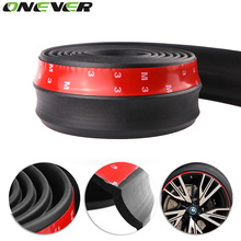 2.5M / 8.2ft Universal Car Sticker Lip Skirt Protector Car Front Lip Bumper Car Rubber Strip 60mm Width For Any Car