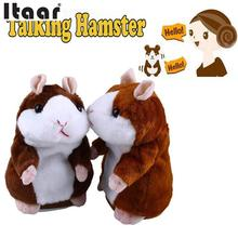 Talking Hamster Sound Record Repeat Stuffed Plush Animal speaking humster Kids Child Toy(China)