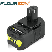 For Ryobi 18V 4000mAh P108 RB18L40 Lithium Ion Rechargeable Battery Pack Power Tools Battery Ryobi ONE+