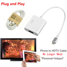 NEW 8pin to HDMI HDTV HD TV Charger Adapter Cable For iPad Pro Air Mini for iPhone 5 5S 6 6S Plus 7 Plus Phone