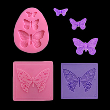 Butterfly Silicone Candy Mold Sugarcraft Cake Decorating Bakeware Butterfly Flower Soap Mold Silicone Baking Tool Sugar Tool(China)