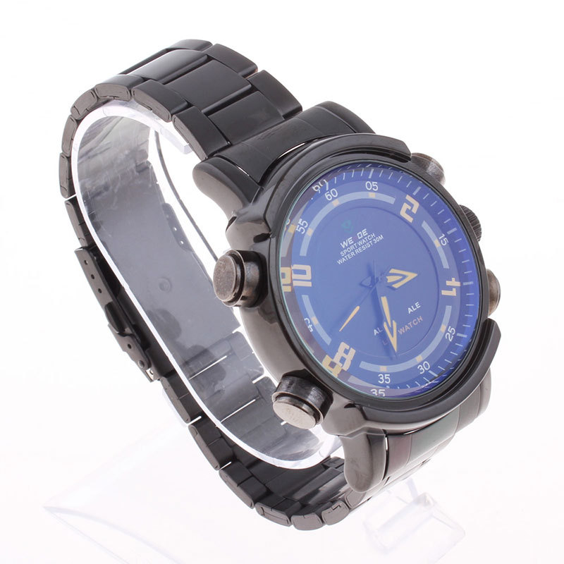 Hot Sale New Style Sporting Man Watch Hour Timer Round Water Resistant Analog Stainless Steel Wrist Watch For Men Boy<br>
