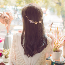 Hollow Tree Leaf Branch Hair Claws Head Jewelry Hair Pin Gold Clip For Hair Tiara Accessories Headdress For Girl Women(China)