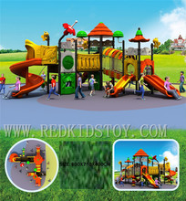 Exported to Bahamas Nontoxic Plastic Playground Set HZ-H005 20 Years' Manufacturer