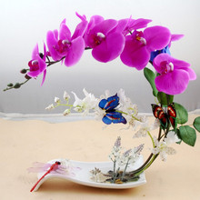 1pcs 12 Heads Artificial Flower Moth Orchid Butterfly Orchid For Wedding Home Party Decorative Flowers & Wreaths P5