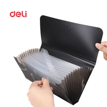 Deli A6 File Folder Document Organizer stationery Document Bag pp Portfolio Organizer Document Folder For business file bags(China)
