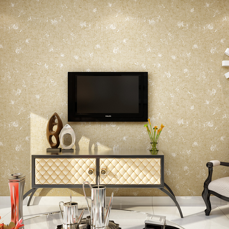 beibehang Plain white background color cloth wall of the living room TV wall covered with simple modern bedroom wallpaper<br>