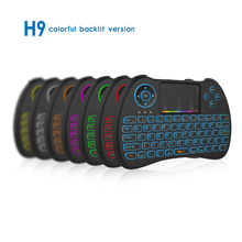 H9 Colorful 2.4G Wireless Mini Keyboard Touchpad mouse for PC Andriod TV Box Portable Backlit keyboard(China)