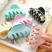 Women Hair Clip Large Size Acrylic Hairpins Solid Color Women Hair Crab Hair Claws Women Make UP Washing Tool Hair Accessories(China)