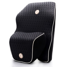 Newest 3D Mesh Breathable Car Seat Back Support Cushion Space Slow rebound Memory Cotton Car Lumbar Support Headrest Pillow(China)