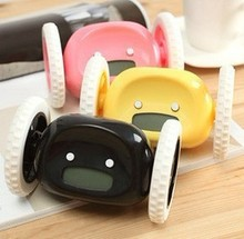 Lowest Price 12pcs/Lot Clocky Hide and Seek Alarm Clock Runs Away on Wheels Free DHL Shipping(China)