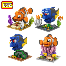 LOZ Finding Dory Nemo Figure Blocks Toy No Box LOZ Diamond Building Blocks Fish Toy Model 14+ Offical Authorized Distributer(China)
