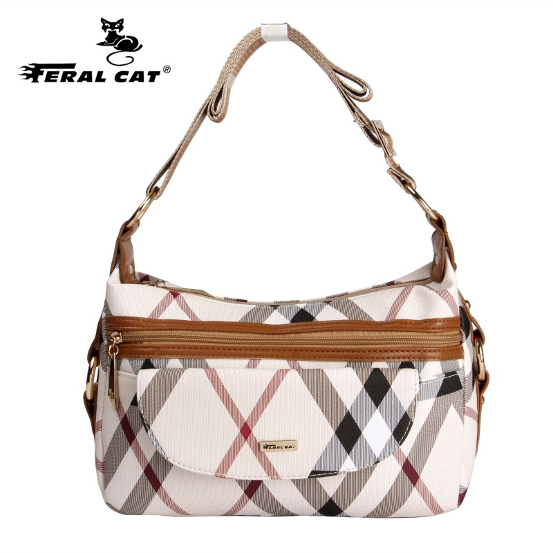 2017 New Shoulder Bag Hobo Inspired Women Messenger Bags Crossbody Luxury Brands Womens Plaid Handbags Free Shipping<br>