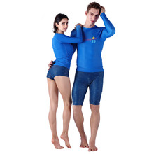 2017 New SABOLAY Women's Diving Wetsuit Sunscreen suit Quick-drying T-shirts Pants Surf swimsuit Rash Guard Women Jersey Shorts(China)