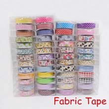 (15 Pieces/Lot) Kawaii Stationery Adhesive DIY Fabric Tape Stickers Masking Tape For DIY Scrapbooking Diary T-001