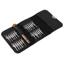 25-in-1  Multifunction  Screwdriver Combination Leather Package Phone Notebook Disassemble Repair Tools
