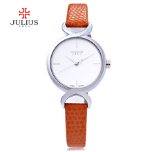 Julius JA-694 694 Women Watches Crocodile Leather Fashion Watch Casual Quartz Ladies Dress Clock Wristwatch Female Relogio Femin