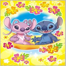 8x8FT Lilo And Stitch Flowers Pattern Boat Custom Photography Backdrop Studio Background Vinyl 2.4x2.4m(China)