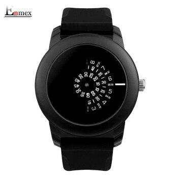 2017 presente enmex estilo criativo câmera conceito design legal dos homens relógio de pulso preto banda silicone breve relógio de quartzo ocasional