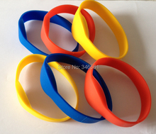 (6 pcs/lot) Waterproof 125Khz RFID Bracelet Silicone Wristband EM4100 Proximity Smart Card Watch Type for Access Control