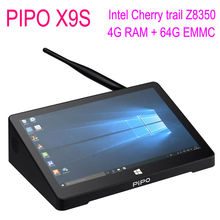 Pipo x9s Mini PC Intel Cherry trail Z8350 Quad Core Windows 10 4GB RAM 64GB ROM Smart TV Box 8.9 1920*1080P touch screen Tablet