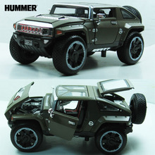 1:32 Hummer HX alloy model Car off-road vehicle With Pull Back Function/Music/Light/Openable Door As Gift For Kids Free Shipping