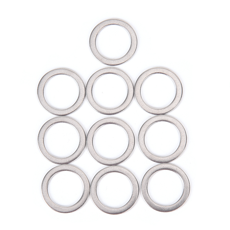 10Pcs Bicycle Pedal Spacer Crank Cycling Bike Stainless Steel Ring Washers XS