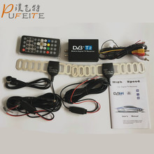 High Speed 110km/h Golden DVB T2 Car DVB-T Double Antenna DVB-T2 Car DVB T H.264 MPEG4 External USB Digital Car TV Tuner