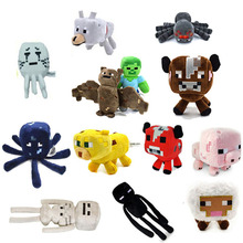 Minecraft Plush Toys 16-26cm My World Zombie Ghost Doll Wolf Sketelon Enderman Ocelot Stuffed Animals Strange Sheep 15 style(China)
