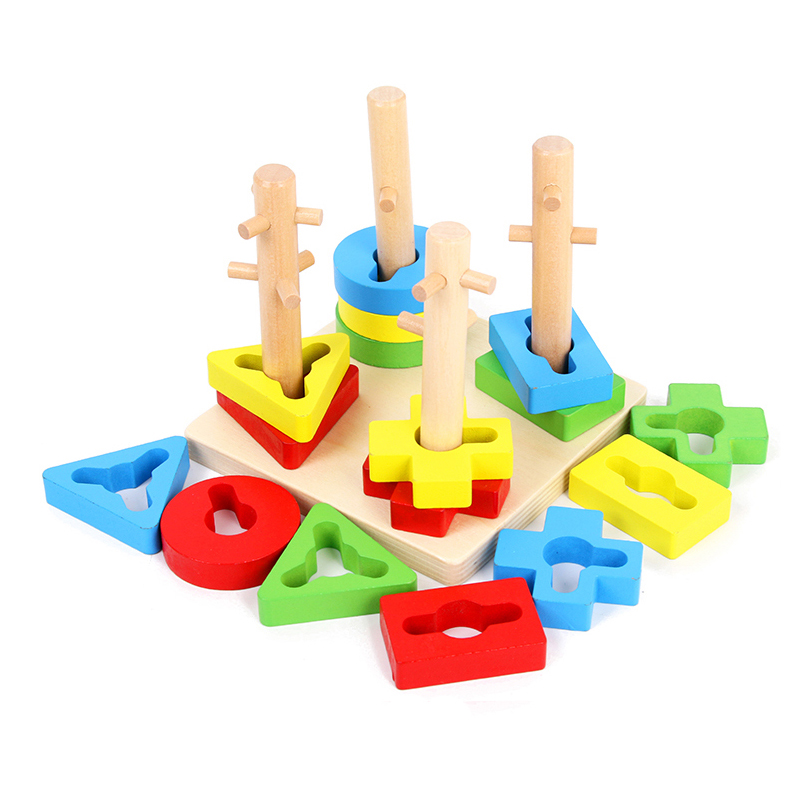 Nice Wooden Montessori Materials Montessori Geometric Solids With Base Learning Educational Toys For Toddlers Juguetes Brinqued Mh164 Home