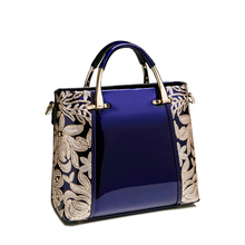 XFE Aristocratic Women Bag Handbags Patent Leather Lady Shoulder Bag Famous Brand Fashion Female OL Bag Wedding Party Bag bolsa(China)