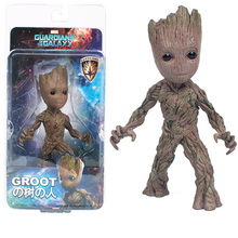 Free Shipping 15cm Tree Man Groot Action Figure Toy PVC Marvel Movie Hero Brand Toy Guardians of the Galaxy Boy Gift(China)