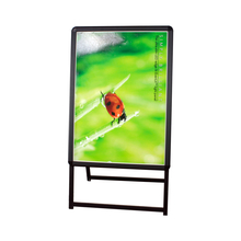 B2 Illuminate A-frame Sidewalk Sign - Centch LED Portable Advertising Display Stand Resatuarant Menu Board Snap Aluminum Frame