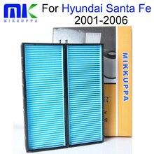Mikkuppa Cabin Air Filter Hyundai Santa Fe 2001 2002 2003 2004 2005 2006 Auto Car Accessories OEM: 64319071935