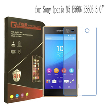For Sony Xperia M4 Aqua M5 Ultra thin 2.5D 9H Tempered Glass Screen Protector For Sony Xperia M2 Aqua S50H With Retail Package