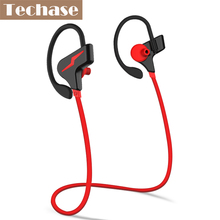 Techase On Ear Bluetooth Wireless Sports Headphones Mini Running Earphones MP3 Player Microphone AptX for iPhone Android Phone(China)