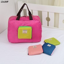 Fashion Large Capacity luggage Packing Tote/Shoulder Travel Shopping Big Bag Folding Clothes Storage Pouch Organizer