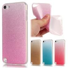 For Coque iPod Touch 5 Case Silicone Glitter Bling Gradient Cover iPod Touch 5 6 Transparent Phone Case For iPod Touch 5 6 Cover