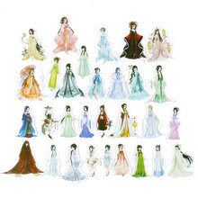 30 pcs/bag Chinese classical beauty paper sticker children diy Handmade Gift Card photo album Scrapbook diary decoration sticker(China)