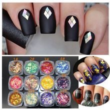 Hot Sale Women Beauty Tool 1Box Nail Sequins Glitter Scales Sheets Tips 3D Shining Nail Art Decoration DIY