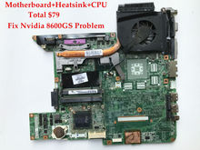High quality Laptop motherboard+CPU+Heatsink for HP Pavilion DV6000 965GM 446477-001 460901-001 100% Fully tested