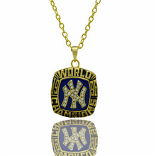 New Sport Jewelry 1996 NY World Series Championship Pendants Necklace For Men and Women Necklaces(China)